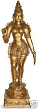 "JAI GOD Parvati Devi Standing Statue 55"" Large Brass Hindu Figure Art Big 52.5KG"
