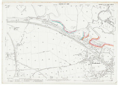Woodlesford Yorkshire map 218-16-1908