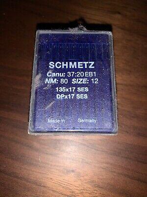 Schmetz Domestic Sewing Machine Needles Sizes NM 70//80//90//100//110//120 X 100