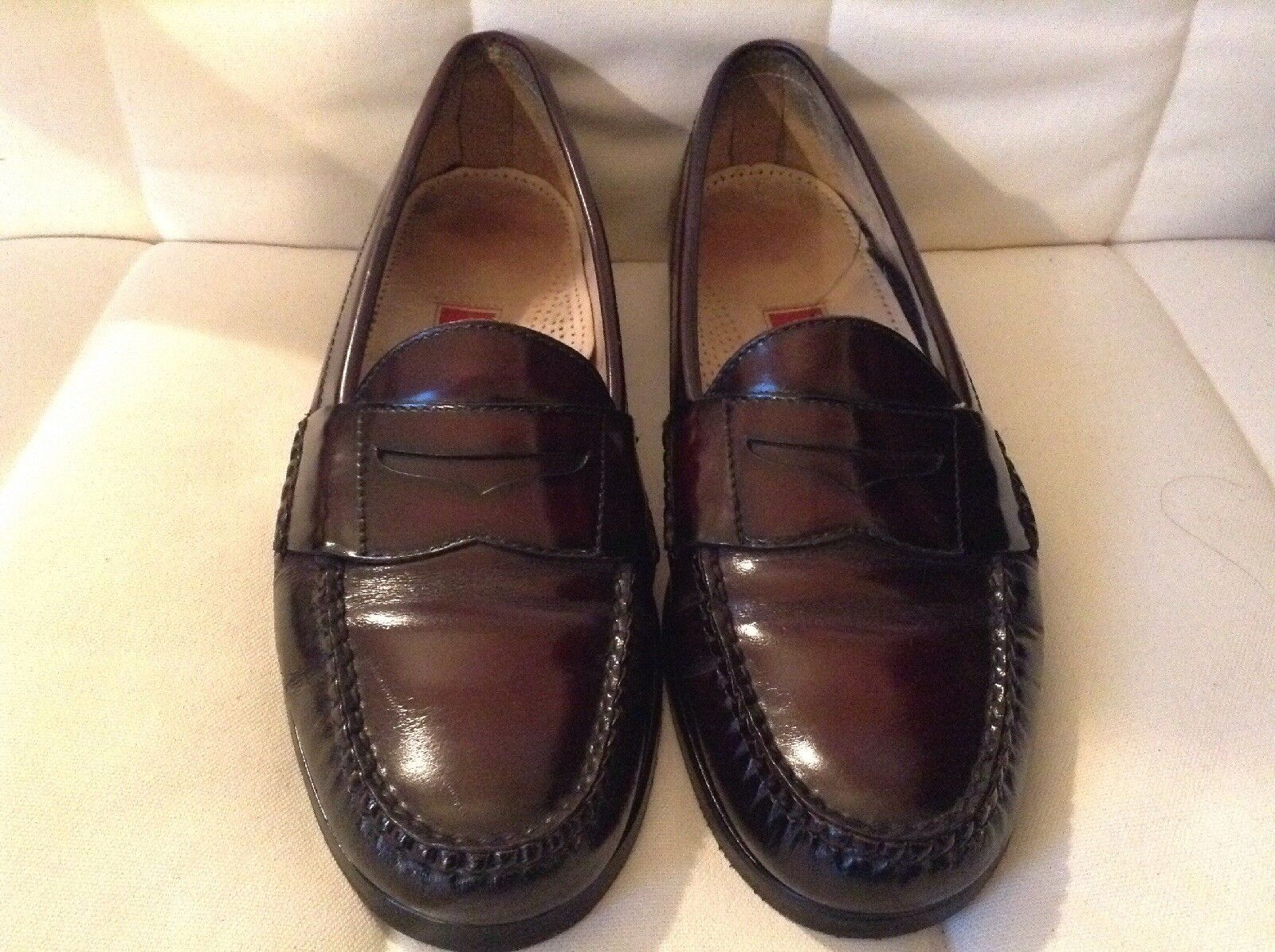 Cole Haan Men's Pinch Penny Burgundy Leather Loafers Slip On  Sz 11