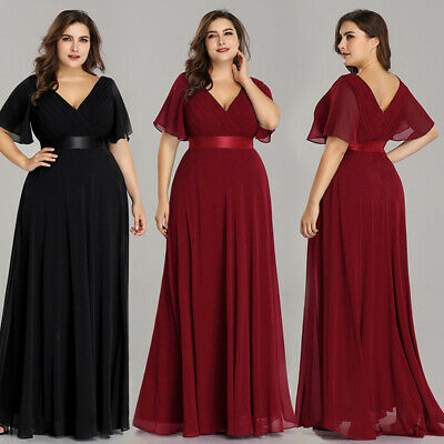 Ever-pretty US Plus Size Formal Burgundy Mother Of Bride Party Dress Gown  09890   eBay