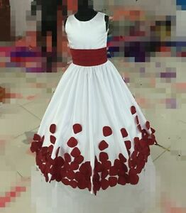Girl Dress Princess Kids Pageant Party Dance Wedding Birthday Gown Size 2 -14