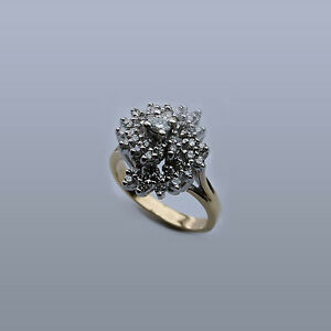Cocktail-Ring-Diamond-Ring-with-Diamond-Cluster-Cente