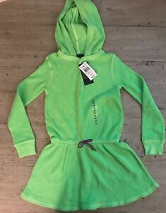 6x About Neon Knit Size Girls Green Waffle Nwt Ralph Lauren Hoodie Details Dress TFK1Jlc