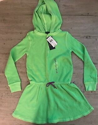 Ralph  Lauren Baby Girl 2 Piece Waffle Knit Green /& Purple Striped Dress Hoodie