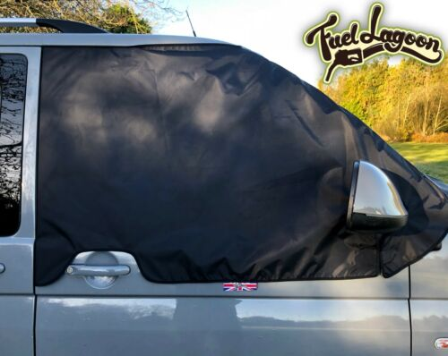 VW T5 Black Out Blind Window Screen Cover Wrap Curtain Camper Frost Eyes Brown