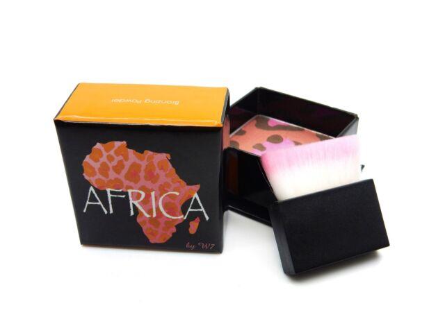 W7 AFRIKA BRONZING POWDER BLUSHER BRONZER SHIMEER WITH BRUSH 6G
