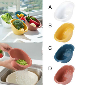Plastic-Kitchen-Fruit-Vegetable-Drain-Basket-Basin-Wash-Filter-Colander-Tool