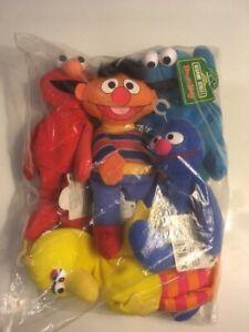 Details About Sealed Sesame Street Bean Bag Applause Elmo Grover Big Bird Cookie Ernie New