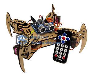 mePed-v2-Quadruped-Walking-Arduino-Robot-Complete-Kit
