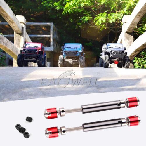 2pcs Metal Drive Shaft Drive Axle for 1//10 RC Rock Crawler Car Axial SCX10 D90