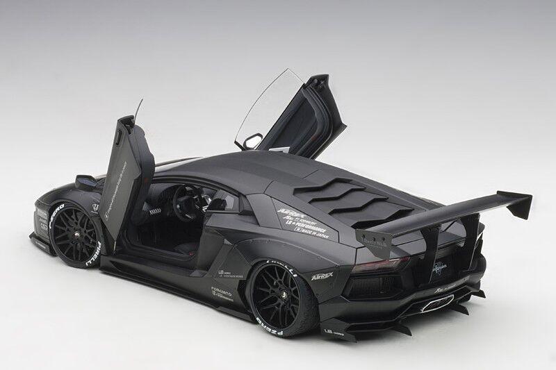 Autoart Lamborghini Aventador LB-funciona 2015 nero Mate Escala 1 18 En Stock