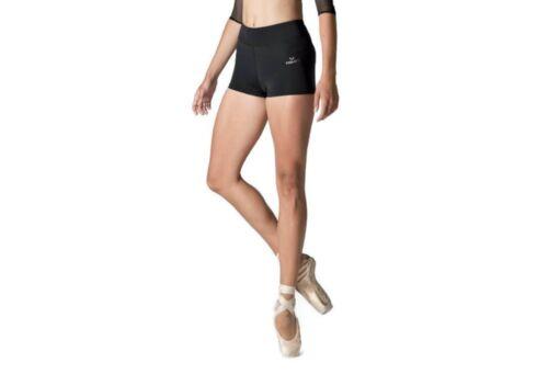 DANSEZ Dans-ez Dance Fitness Shorts Deep Waistband Black Gym Yoga Pilates