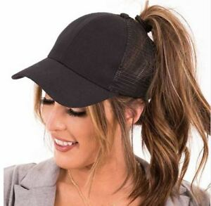 67a826cf3 Details about 2018 Glitter Ponytail Baseball Cap Women Snapback Hat Summer  Adjustable Hat