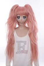 W-592 Danganronpa Junko Enoshima rosa rosé orange pink 92cm Cosplay Perücke Wig