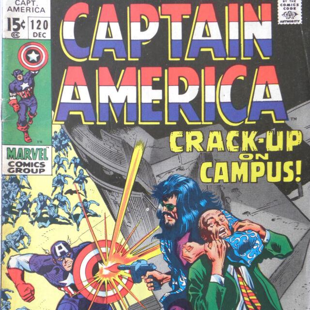 CAPTAIN AMERICA 120 — Dec 1969 — MODOK Falcon MARVEL Nick Fury SHEILD CAMPUS