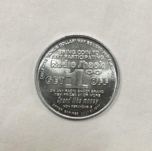 1 Radio Shack Token 1977 Citizens Band Bonus Dollar CB Radio Coin