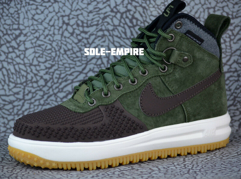 Nike Lunar Force 1 Army Duckboot 805899-200 Baroque Brown Army 1 Olive Gum Boots Mens c295a3