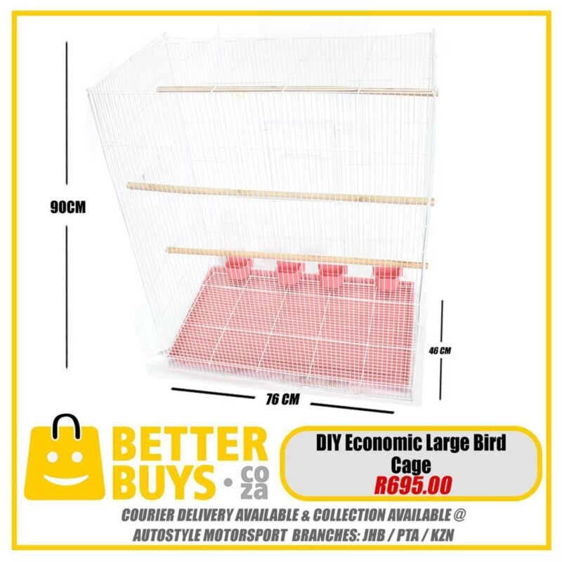 Bird cages, assorted sizes, aviary, mesh, for parrots, finches, budgies, african grey, gray, parakee