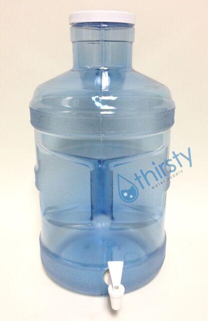 5 Gallon Water Bottle Big Cap Faucet Spigot Polycarbonate Plastic