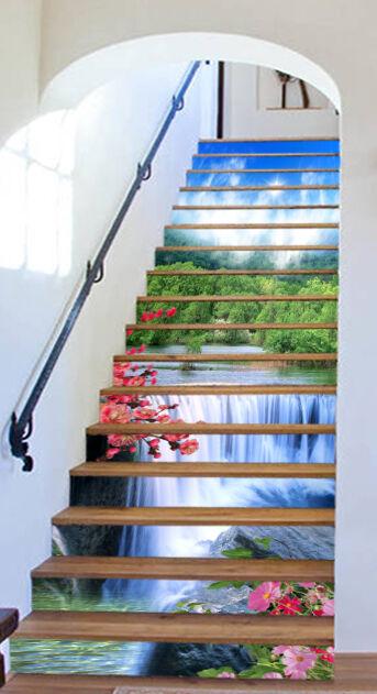 3D Sky falls 62 Stair Risers Decoration Photo Mural Vinyl Decal Wallpaper UK