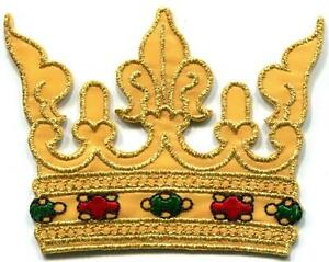 King-039-s-Crown-royalty-royal-retro-embroidered-applique-iron-on-patch-S-1357