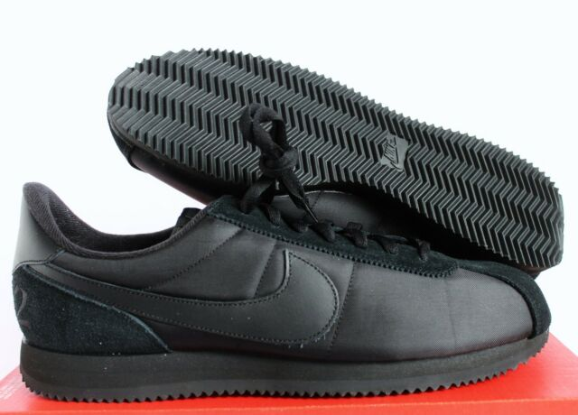 brand new 2242c 0f6ae Nike Cortez Basic QS 1972 Running Shoes Triple Black Mens 14 842918-001