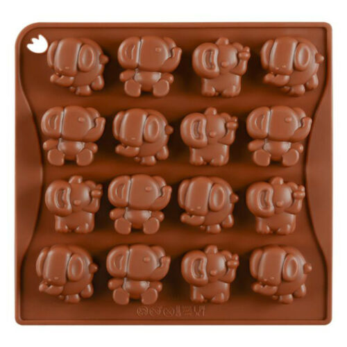 16-Cavity Cute Elephant Biscuit Cake Mould Mousse Cake Dessert Baking Tool