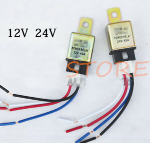 Details about 12V 24V 40A NO Car Auto Truck Power Relay 4 Pin + Harness on