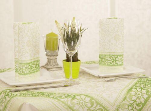 40 x 40 cm 4-lagig 50 Serviette Lara in grün aus Tissue Deluxe® Ornamente