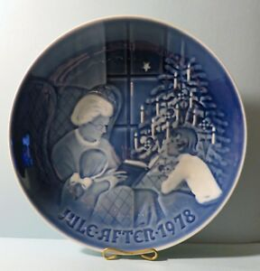 """Bing & Grondahl (B & G) 1978 Plate """"A Christmas Tale"""". Denmark"""