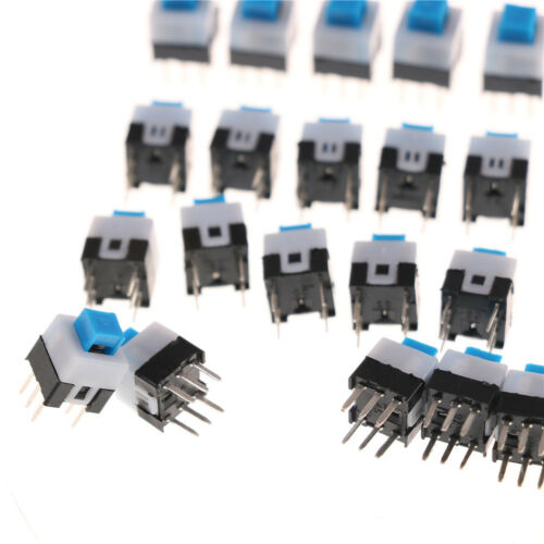 10PCS 7 x 7mm PCB Tact Tactile Push Button Switch Self Lock 6 Pin/_HO W0 ZF