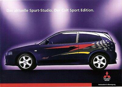 100% QualitäT Prospekt / Brochure Mitsubishi Colt Sport Edition 04/1999