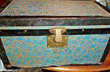 ANTIQUE  COUNTRY TIN DOLLS OR SMALL TRUNK TIN OUTSIDE
