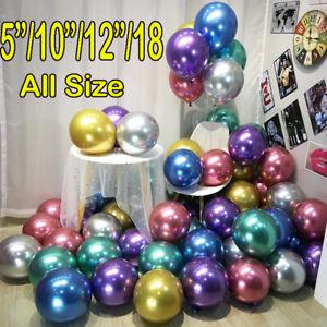 100-200-Chrome-Ballons-Metallique-Latex-Pearl-5-034-Helium-Ballon-Fete-D-039-Anniversaire