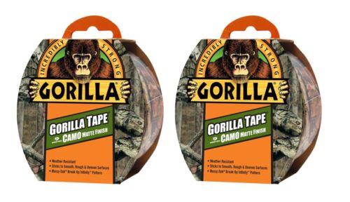 2 x 8m BANDE gorilla résistant aux intempéries camoflage mossy oak motif
