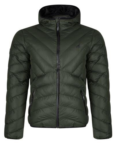 Kangol Uomo Trapunta Piumino Gallia leggermente imbottito caldo cappotto con cappuccio all/'aperto