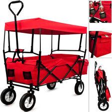 Faltbarer Bollerwagen Handwagen Klappbar Transportkarre Gerätewagen Rot