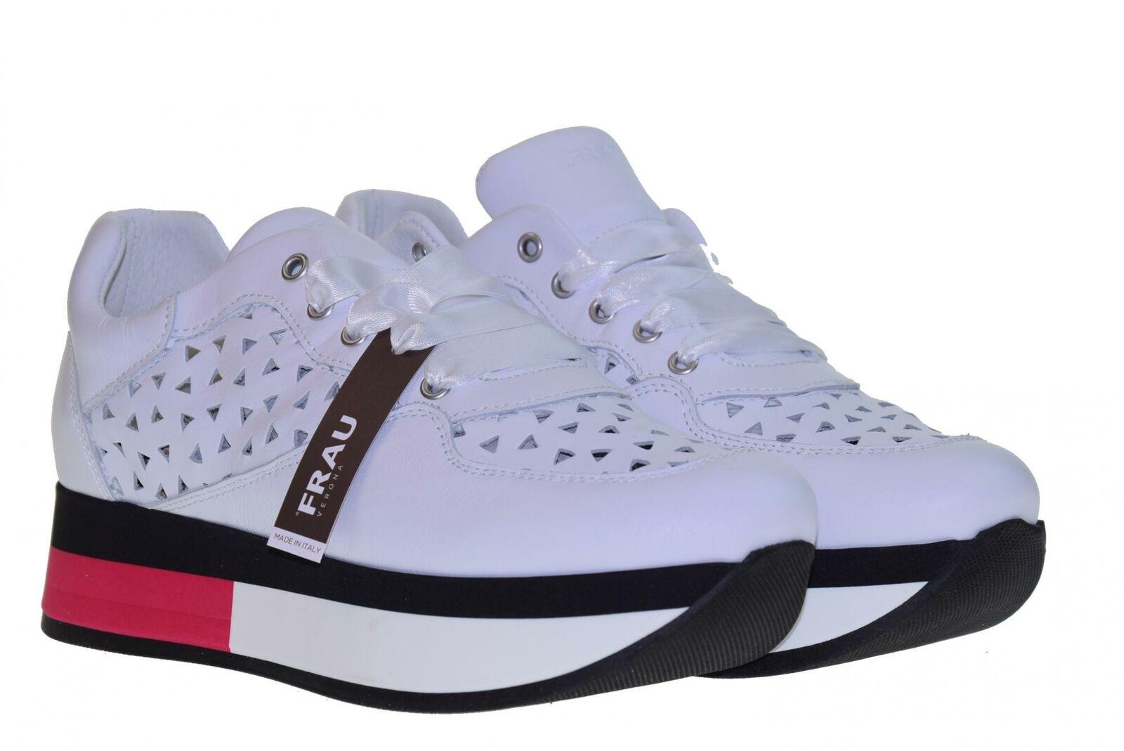 Frau P19s shoes women zapatillas bajas con silverforma 55C5 BIANCO-FUCSIA