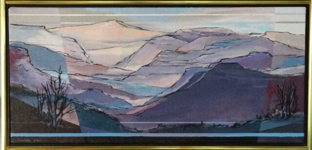 Mary Ann Ginter (American,b.1928) Orig. Acrylic Painting Grand Canyon, Viewpoint