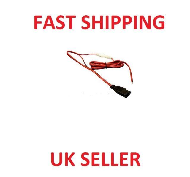 3 PIN CB FUSED POWER LEAD CABLE  Audioline Uniden Realistic Midland (AM) Danita