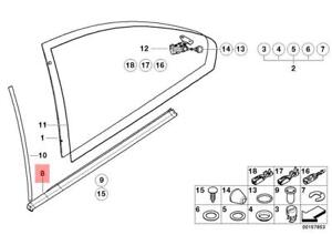 Genuine-BMW-E46-Coupe-Weatherstrip-Quarter-Window-OEM-51368194742