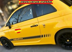 2X-Laterales-Adhesivas-Decal-stickers-De-Vinilos-Coche-Fiat-Abarth-500-180x17cm