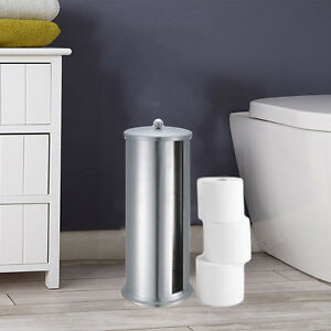 Image Is Loading DELUXE FREE STANDING CADDY TOILET ROLL STORAGE MIRROR
