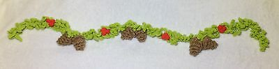 KNITTING PATTERN - Christmas Woodland Garland decoration 1 m long with pinecones