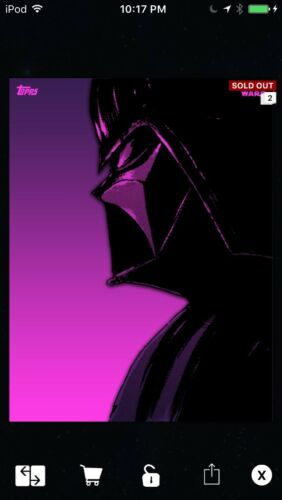 Topps Star Wars Digital Card Trader  Prime Manga Darth Vader Insert