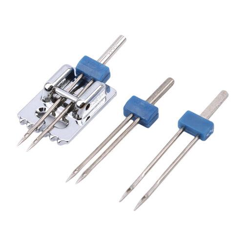 3 unids//set herramientas de costura doble agujas arrugado de coser prensatelas