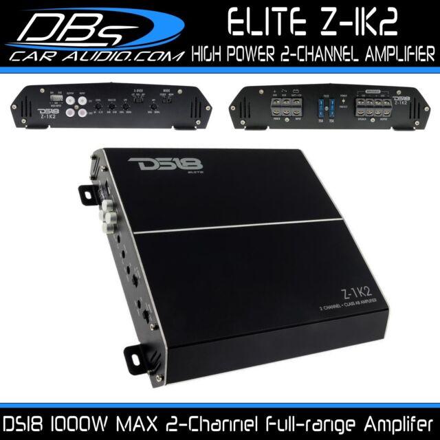DS18 Audio Z1k2 Elite Amplifier 1500 Watts 2 Channel