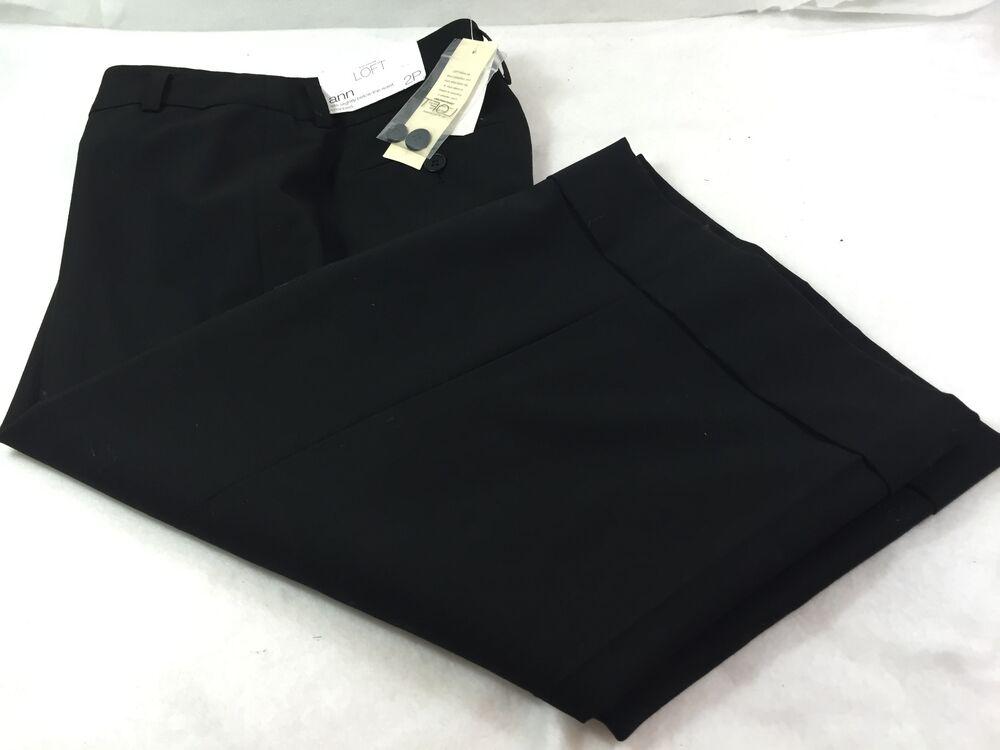 Ann Taylor Loft Ann Court Corsaire Stretch Pantalon Décontracté Femmes Taille 2p