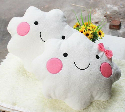 boys and girls white clouds decorative pillow neck roll cushion hold pillow